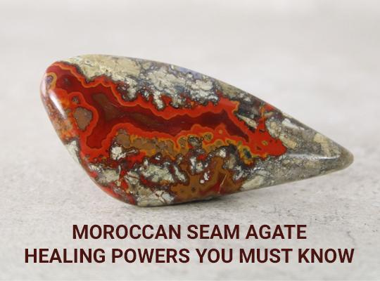 Natural Moroccan Seam Agate 20x22x5 mm Octagon shape gemstone