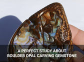 A Perfect Study About Boulder Opal Carving Gemstone