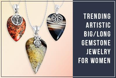 Trending Artistic Long Gemstone Jewelry for Women