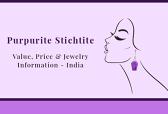 Purpurite Stichtite value, price & jewelry information