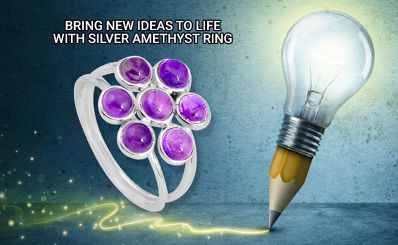 Bring New Ideas To Life With Silver Amethyst Ring