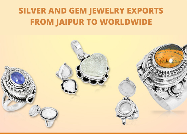 Silver and Gem Jewelry Exports from Jaipur to Worldwide