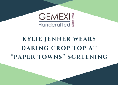 "Kylie Jenner Wears Daring Crop Top At ""Paper Towns"" Screening"