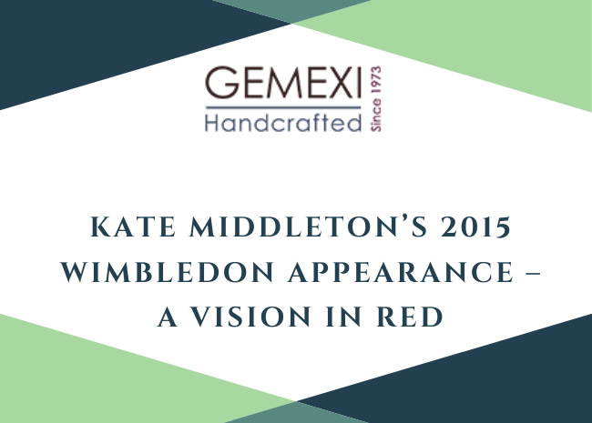 Kate Middleton's 2015 Wimbledon Appearance - A Vision in Red