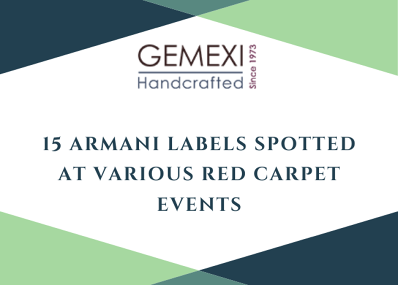 15 Armani Labels Spotted At Various Red Carpet Events