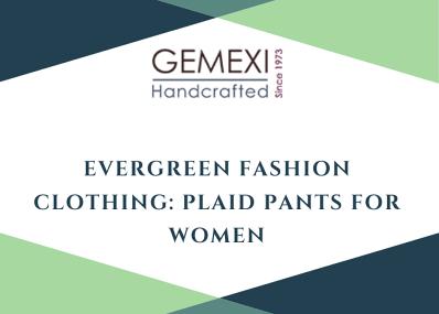 Evergreen Fashion Clothing: Plaid Pants for Women