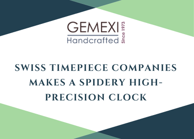 Swiss Timepiece Companies Makes a Spidery High-Precision Clock