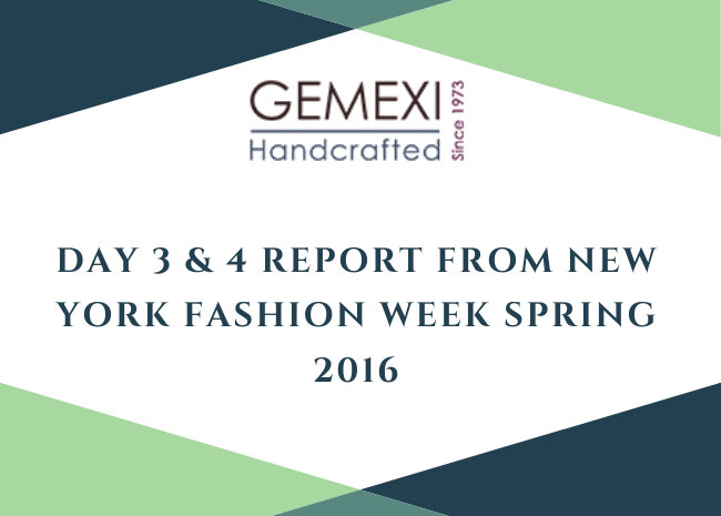 Day 3 & 4 Report from New York Fashion Week Spring 2016