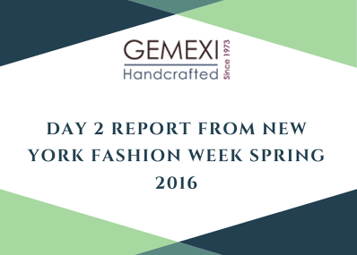 Day 2 Report from New York Fashion Week Spring 2016