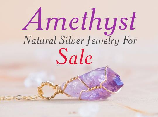 Amethyst Natural Silver Jewelry For Sale