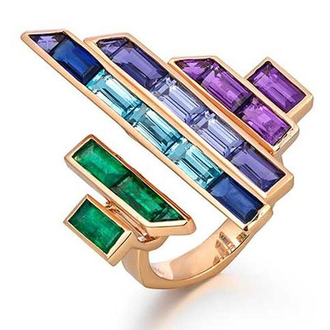 Blend of Colors in Modern Jewelry chases a Nature's Rainbow