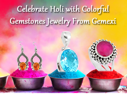 Celebrate Holi with Colorful Gemstones Jewelry From Gemexi