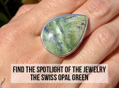 Find The Spotlight Of The Jewelry - The Swiss Opal Green
