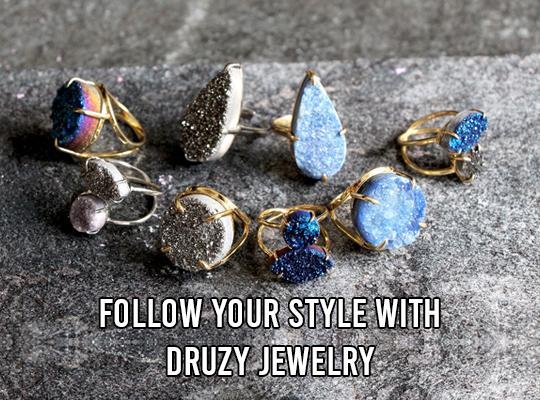 Follow Your Style With Druzy Jewelry
