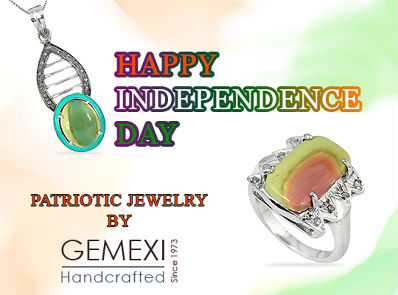Gemexi Patriotic Jewelry for Independence Day