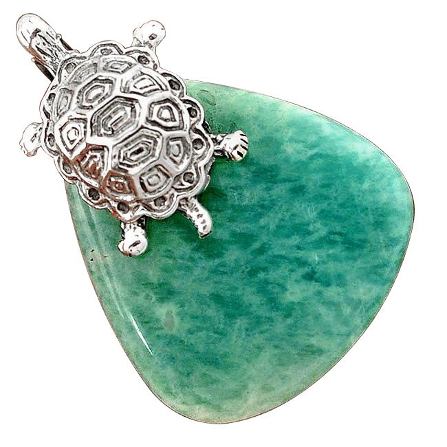 amazonite (hope-stone) pendant