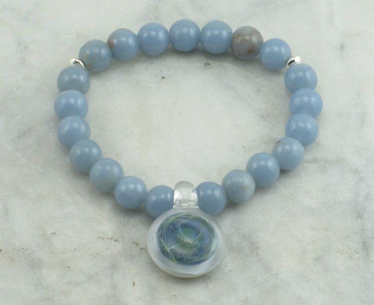 angelite mala beads