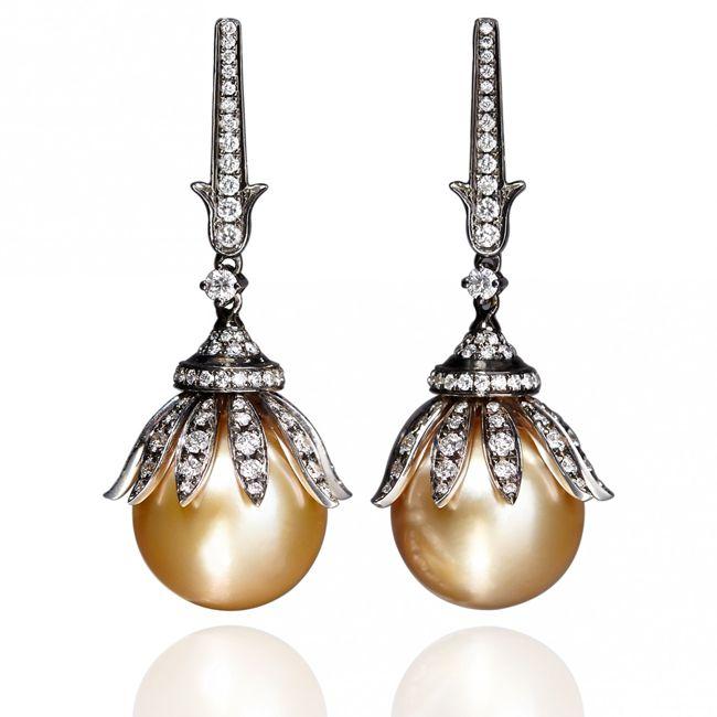 Annoushka Golden Pearls Earings