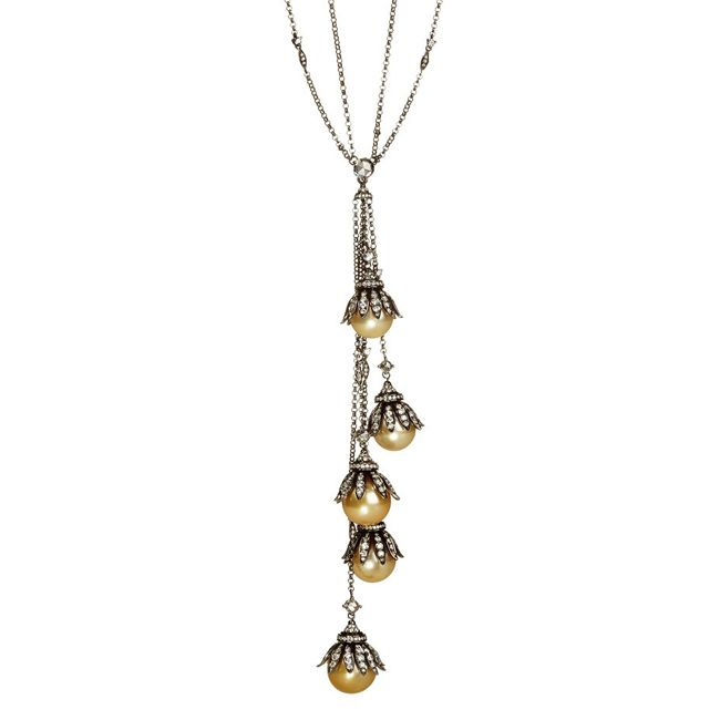 Annoushka Golden Pearls Necklace