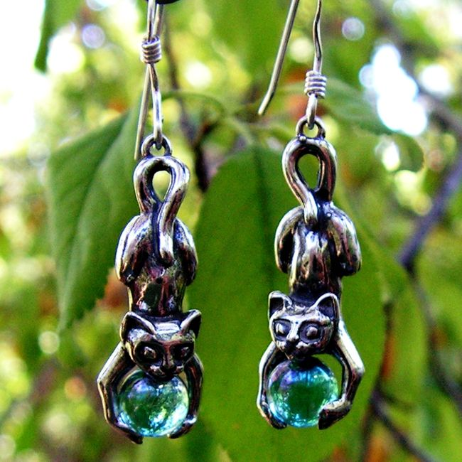 aqua aura earrings