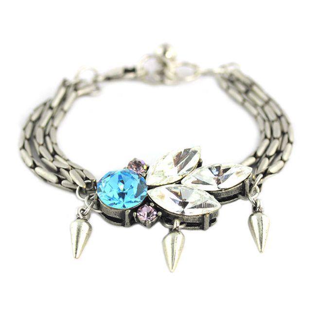 art deco aquamarine bracelet