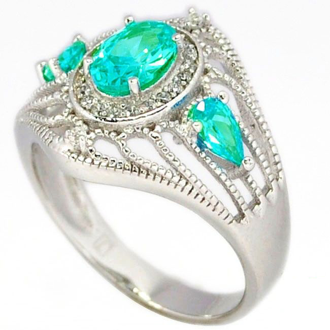 blue apatite cocktail ring