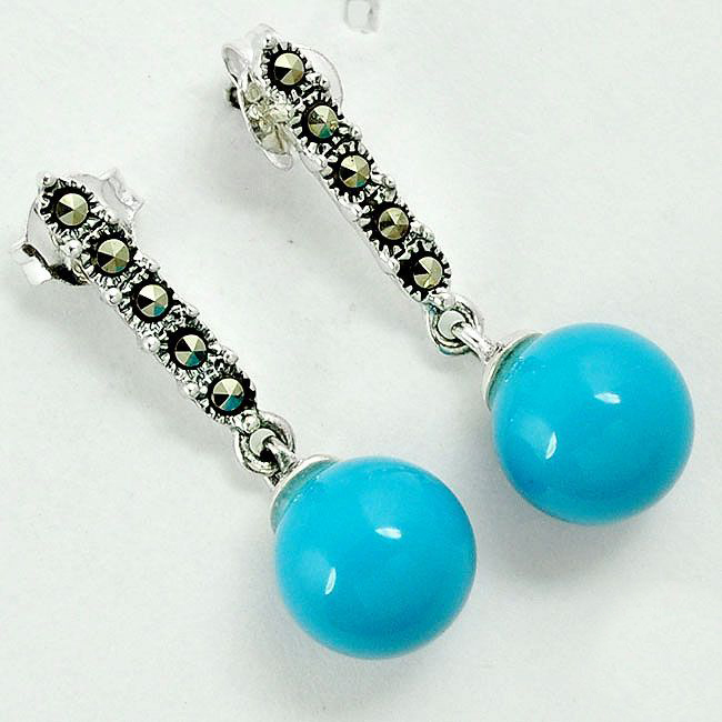 blue sleeping beauty turquoise earrings