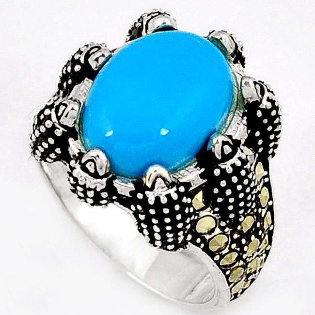 blue sleeping beauty turquoise ring