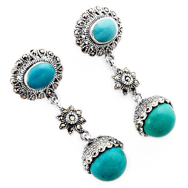 blue turquoise marcasite