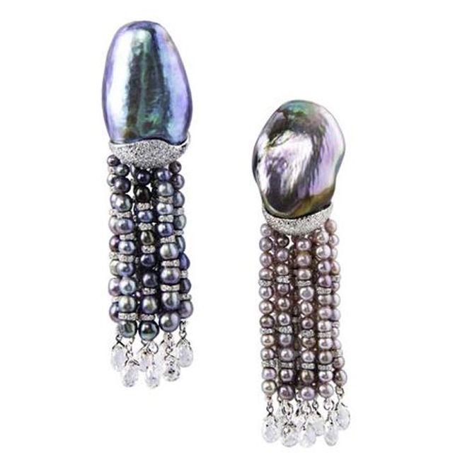 Bogh Art Abalone Pearl Diamond Earrings
