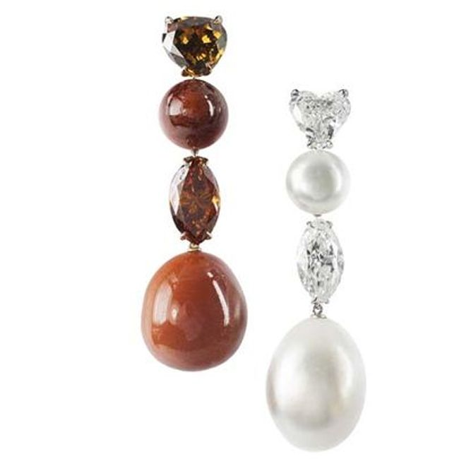 Bogh Art Pearl Diamond Earrings