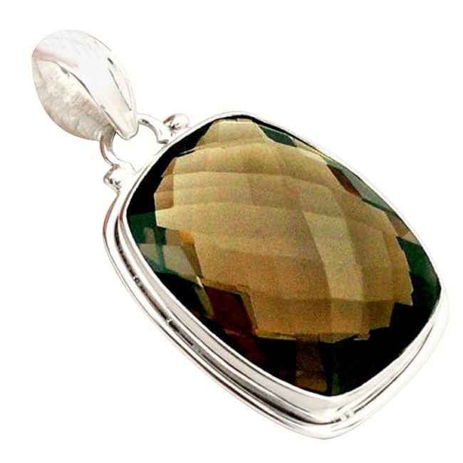 brown smoky topaz quartz pendant