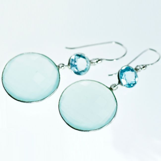 calcite drop earrings