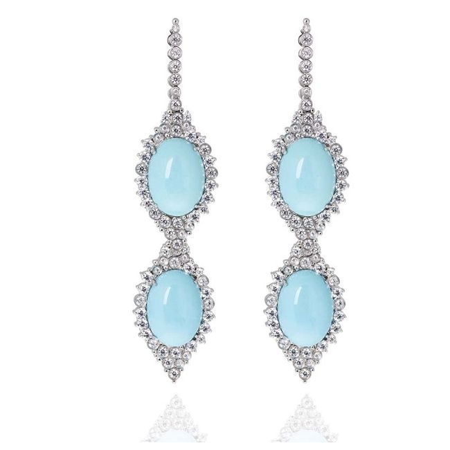 Carla Turquoise Diamond Earrings