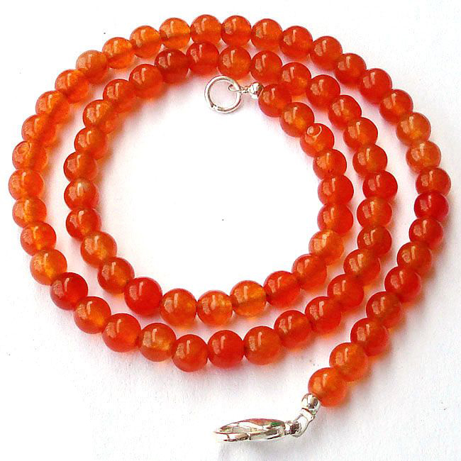 carnelian necklace beads