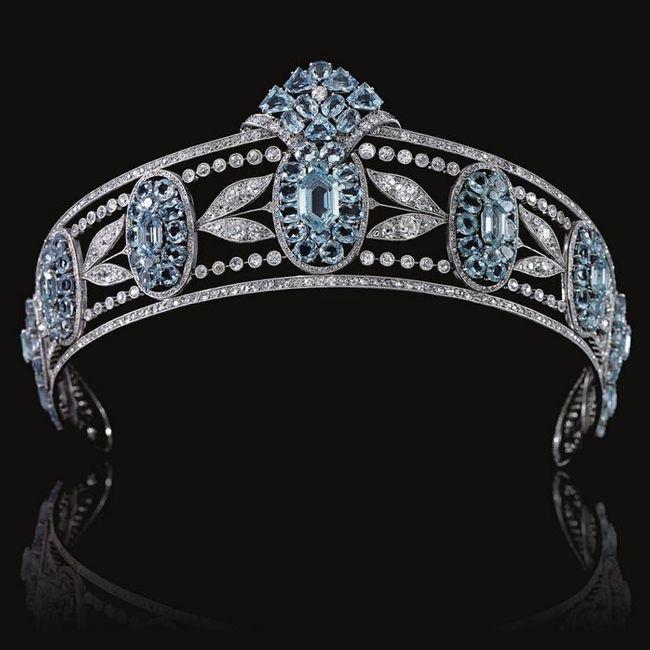 cartier's aquamarine tiara