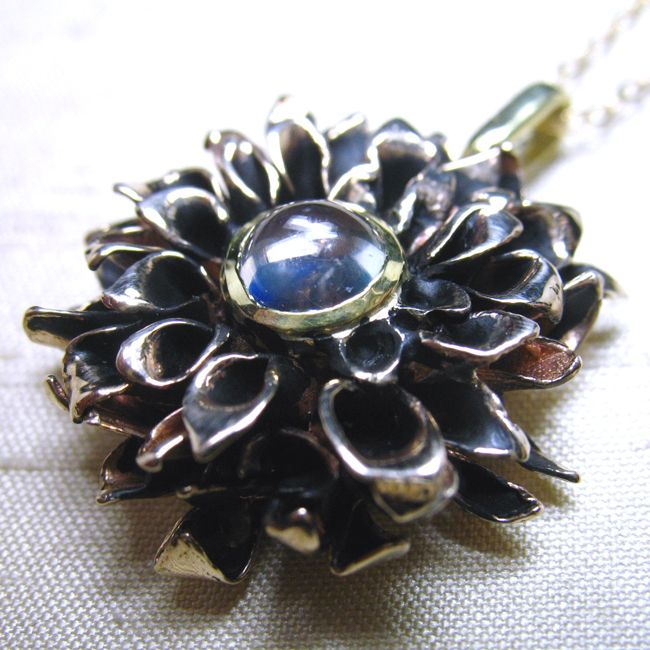 chrysanthemum pendant bronze lura jewelry
