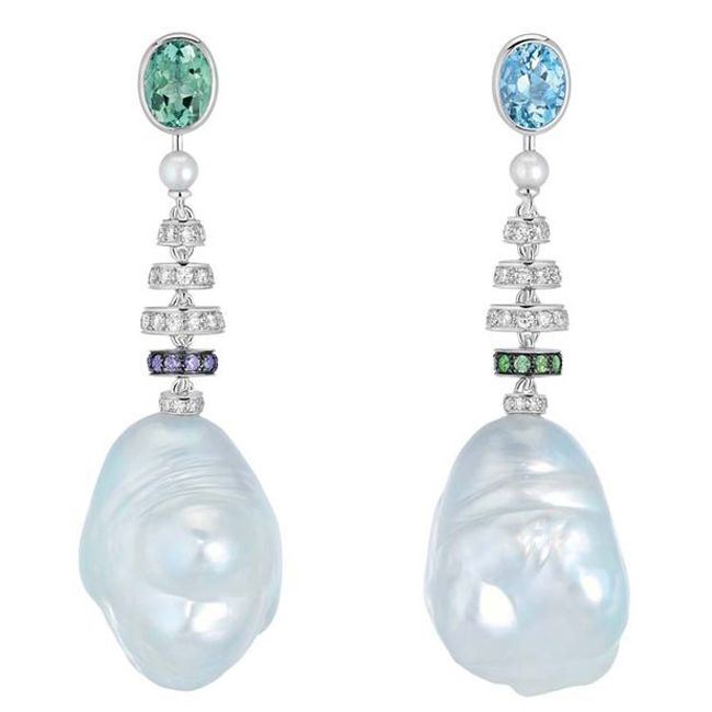 coco chanel perles swing collection pearl earring