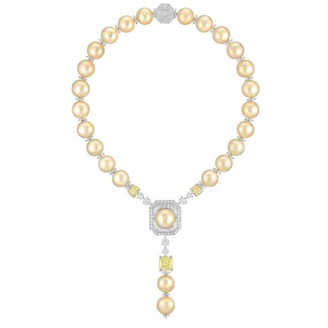coco chanel perles swing collection pearl necklace