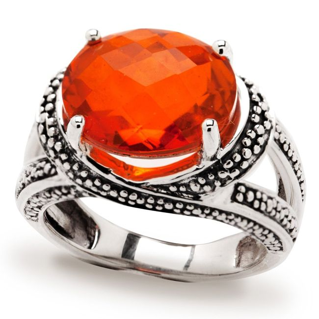fire quartz ring