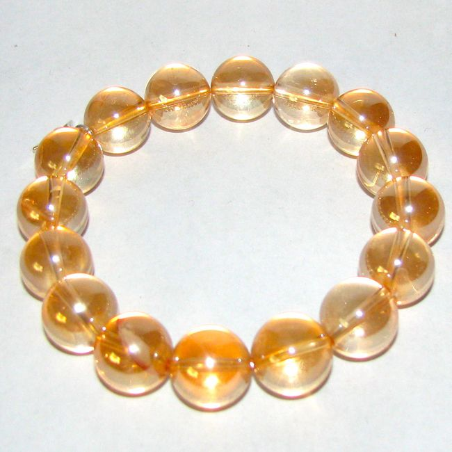 golden aura quartz bracelet