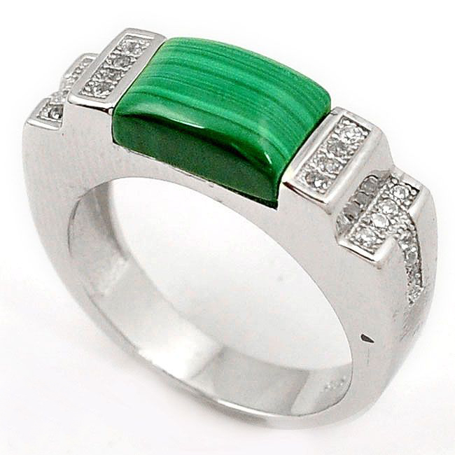 green malachite men ring