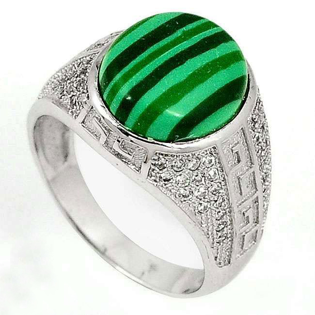 green malachite mens ring