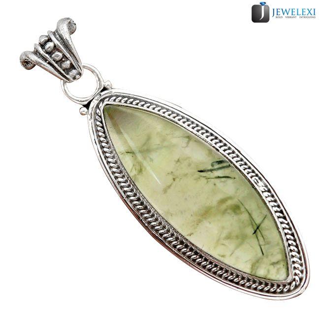 green prehnite marquise