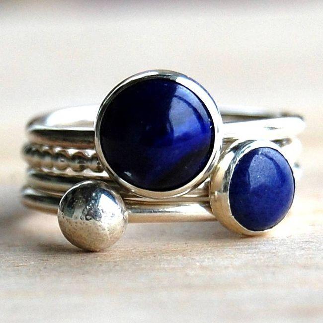 lapis lazuli band ring