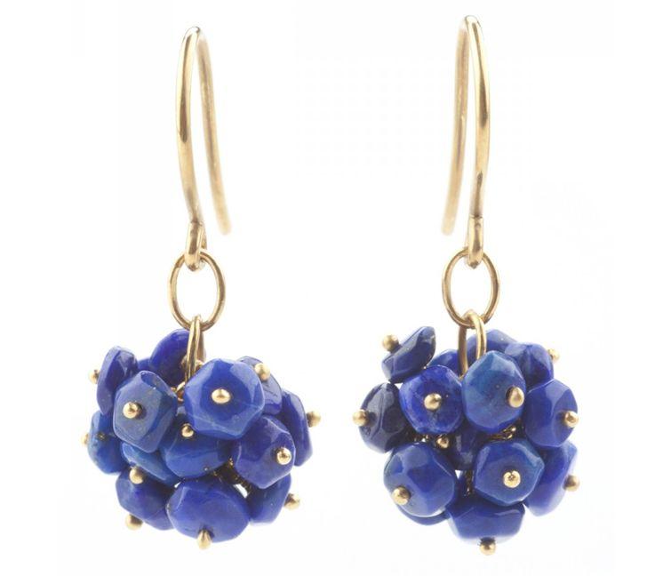 lapis lazuli pompom