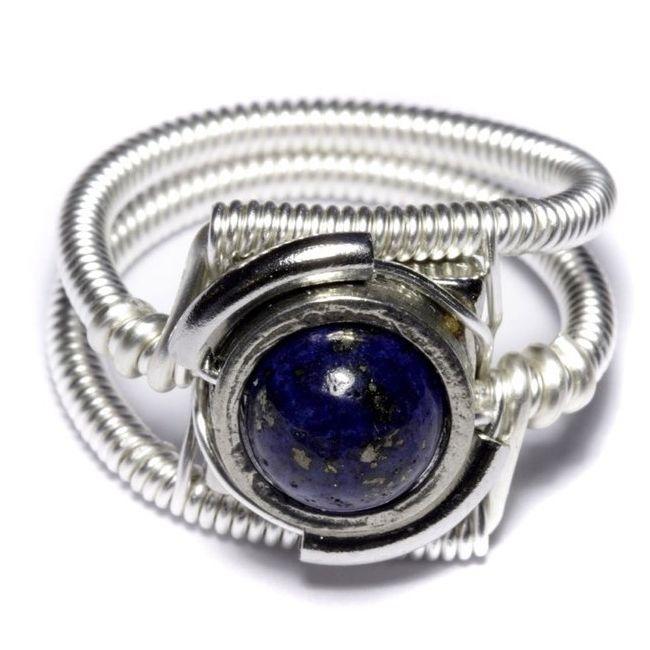 lapis lazuli round ring