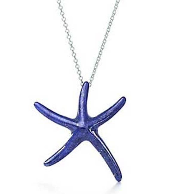 lapis lazuli starfish pendant