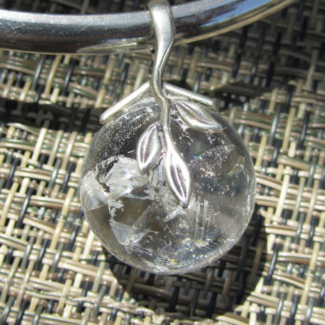 lemurian quartz gemstone pendant