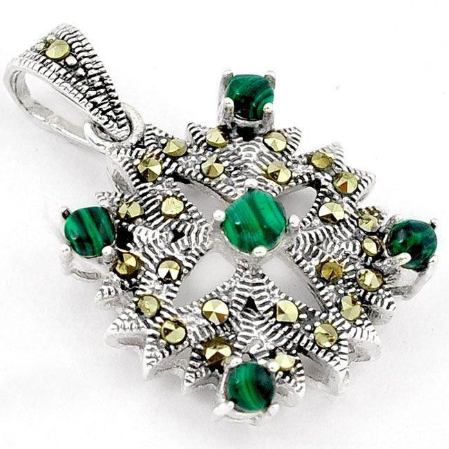 malachite (pilot's-stone) pendant